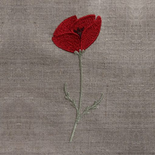 broderie coquelicot