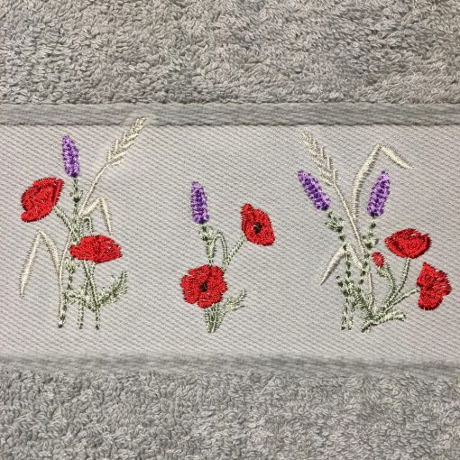 broderie lavande coquelicot