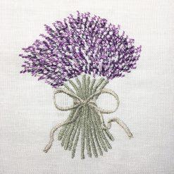 broderie bouquet de lavande