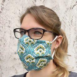 masque grand public UNS1 vintage bleu 10 lavages