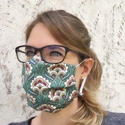 masque grand public UNS1 vintage vert 10 lavages