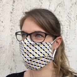 masque grand public UNS1 faïence jaune 10 lavages