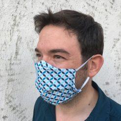 masque grand public UNS1 faïence bleu 10 lavages