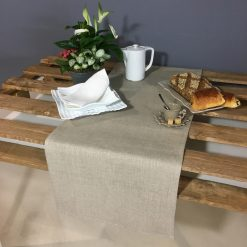 chemin de table lin naturel