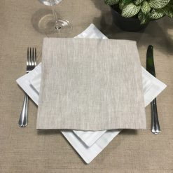 serviette de table lin chiné