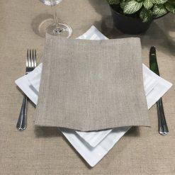 serviette de table lin naturel